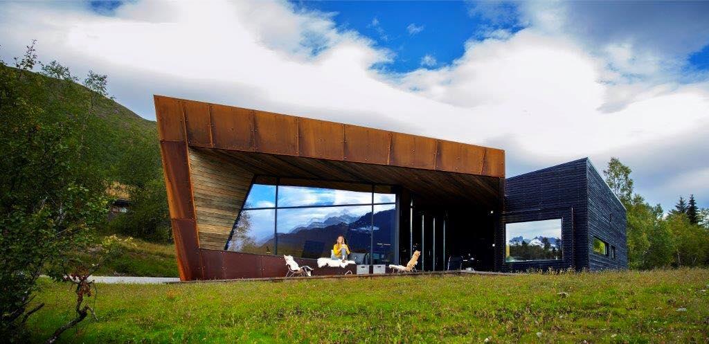 Black lodge exterior front