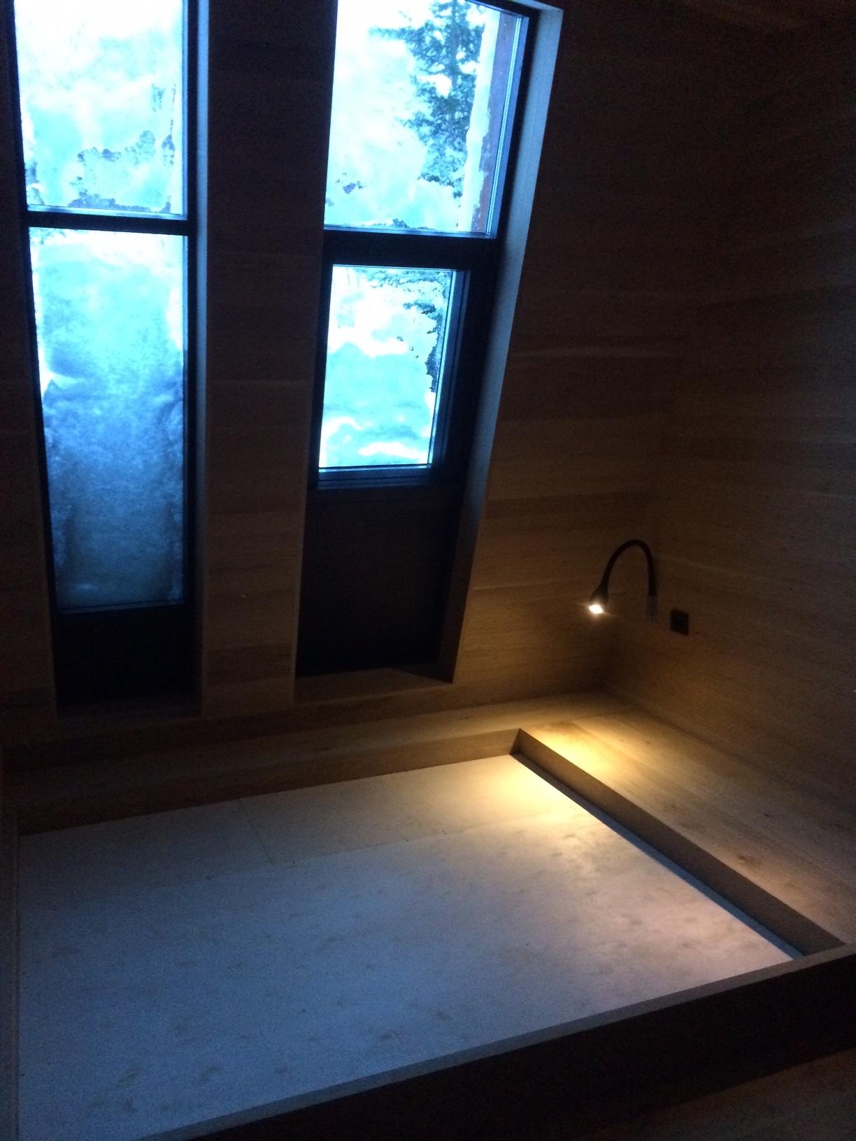 Black lodge interior