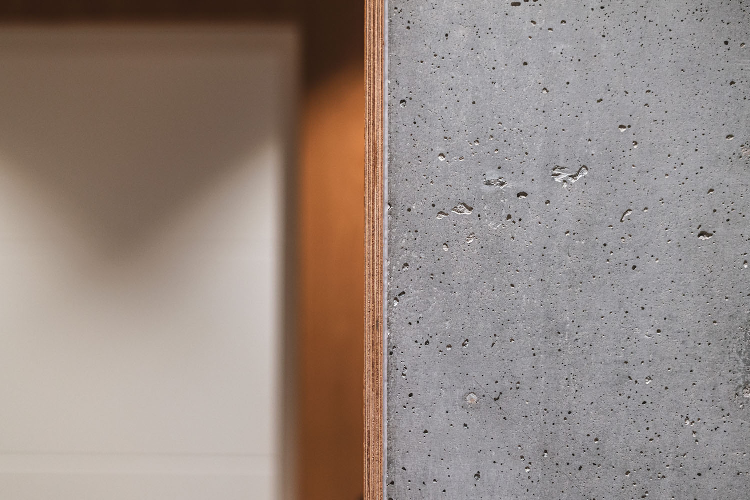 Interior detail wood and concrete